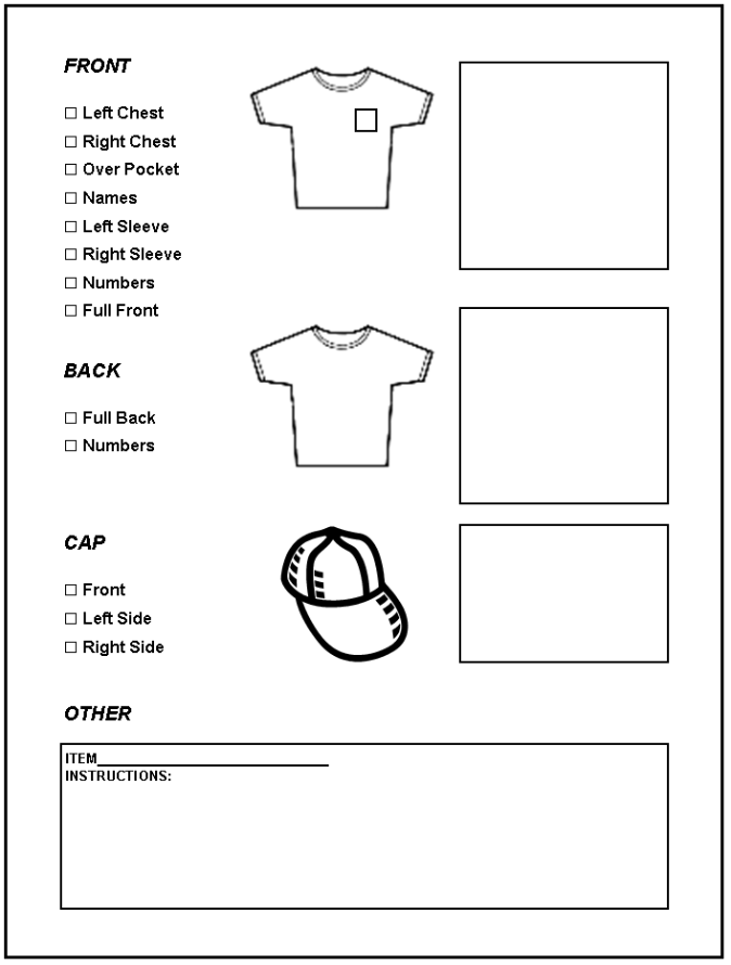 Screen Printing Order Form Template http://fuzzyfaceonline.com/resources/printform1.html